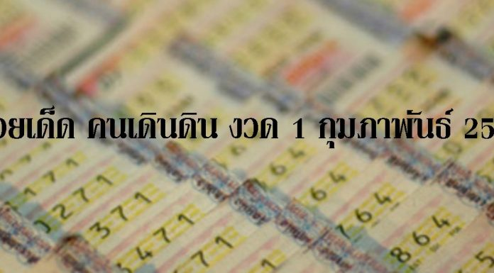 เสี่ยงกันอีกงวด! หวยเด็ด คนเดินดิน งวด 1 กุมภาพันธ์ 2560