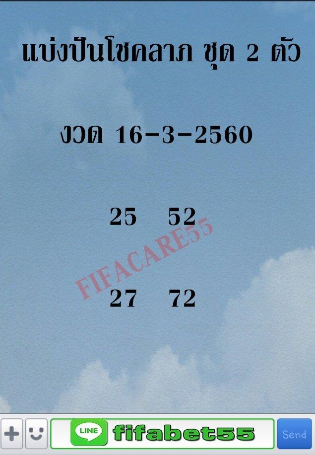 สูตรล็อค 2 ตัว ล่าง 4 ชุด งวด 1 มีนาคม 2560 เลขเด็ด !