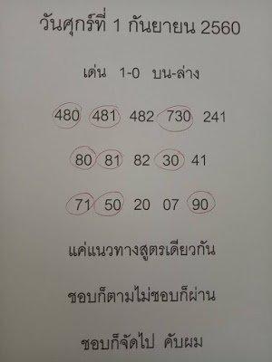 หวยเด็ดงวดนี้ เลขแนวทางสูตรคำนวณแบ่งปันรับโชคลาภ งวด1/09/60