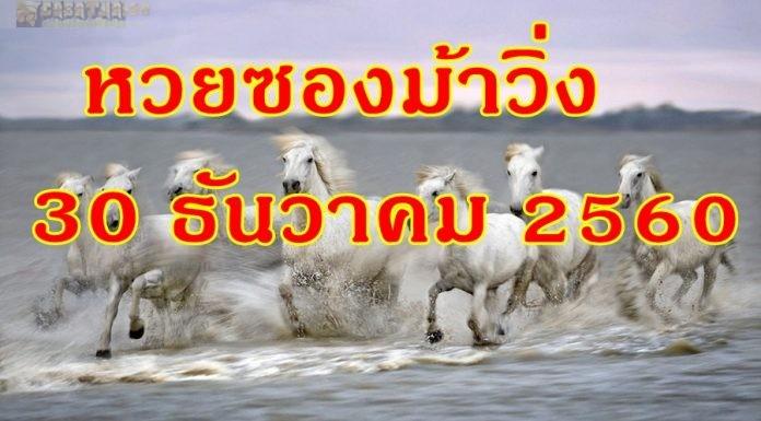 วิ่งบน วิ่งล่าง หวยเด็ดงวดนี้ หวยซองม้าวิ่ง 30 ธันวาคม 2560